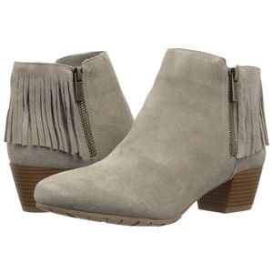 KENNETH Cole Reaction Taupe Fringe Ankle Bootie